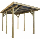 Carport en bois Evolution 1 - 5.10 x 3.40 m