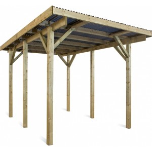 Carport en bois Evolution 1 - 5.07 x 3.04 m