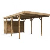Carport en bois Etna Uno A - 5.84 x 3.04 m