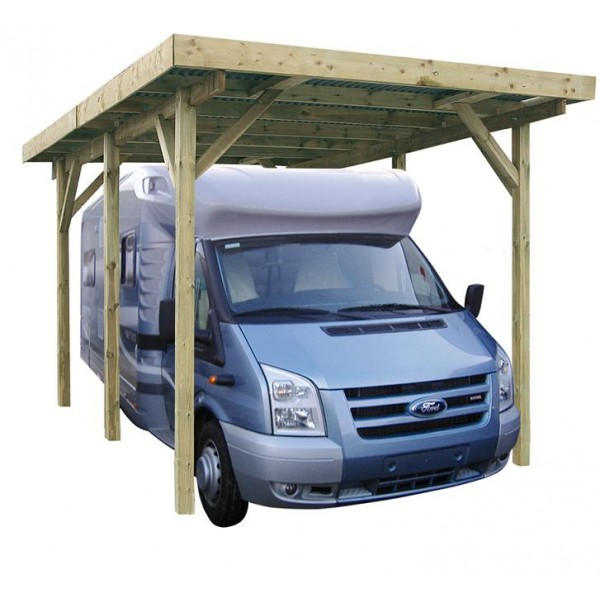 carport en bois pour camping car x m m votre abri de. Black Bedroom Furniture Sets. Home Design Ideas