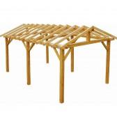 Carport en bois Vercors - 3.34 x 5.40 m - 18.03 m²