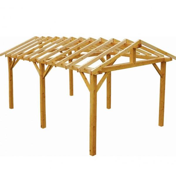 Carport en bois Vercors 3 34 x 5 40 m 18 03 m u00b2 votre abri de jardin com # Carport Bois En Kit