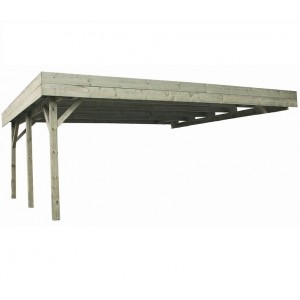 Carport en bois Evolution - 6.00 x 5.10 m - 30.6 m²