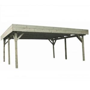 Carport en bois Evolution 2 - 6.05 x 5.10 m - 30.86 m²