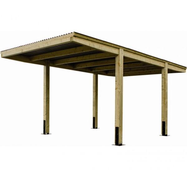 carport en bois designo uno x m m votre abri de. Black Bedroom Furniture Sets. Home Design Ideas