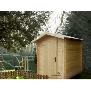 Abri de jardin bois panneaux traités 2.05 x 1.96 m - ep 19 mm - 4.02 m²