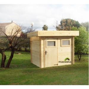 Abri de jardin Moderne en Bois Mikki 4,07 m² épaisseur 19 mm