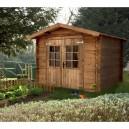 Abri de jardin emboité 2.46 x 2.46 m - 6.05 m² - ep 19 mm