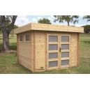 Abri de jardin bois emboité 2.68 x 1.95 m - ep 28mm - 5.22 m²
