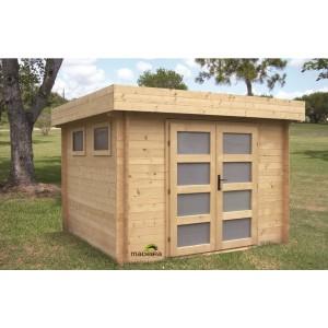 Abri de jardin en bois emboité moderne KIVIK 6.7 m2