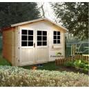 Abri de jardin bois emboité 3.88 x 3.00 - 11,64m² - ep 28mm