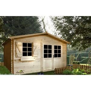 Abri de jardin CHARMEY bois 398 x 398 13.99m² épaisseur 28mm