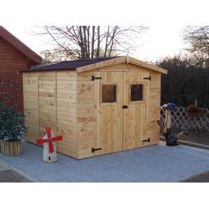 Abri de jardin en panneaux 16 mm 5,76 m² (montage disponible)