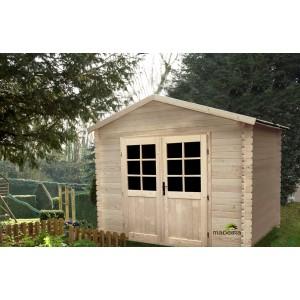 Abri de jardin en bois IBIS 2.98 X 2.98 7.51m² ep 28mm