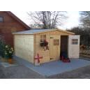 Abri de jardin en bois 28mm 10.89m² (Montage disponible)