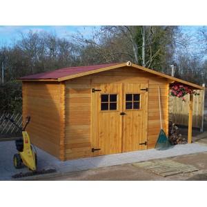 Abri de jardin en bois emboit avec b cher vendee livr et mont - Abri de jardin bucher ...