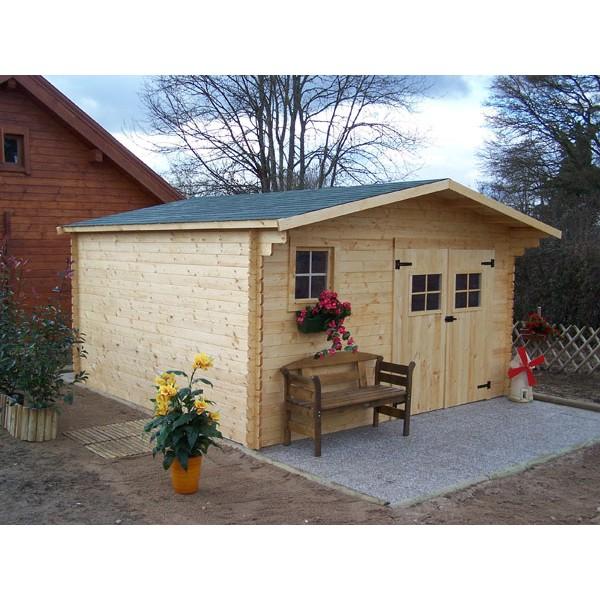 Abri de jardin en bois 28 mm x m for Abri de jardin bois 28mm