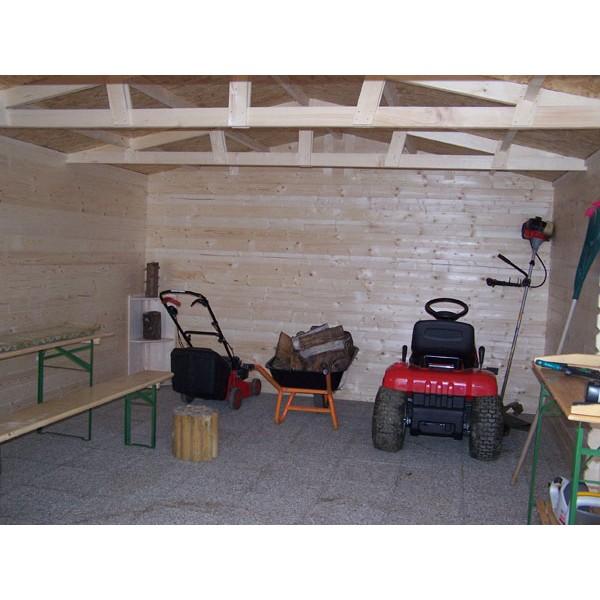 Abri de jardin en bois 28 mm 4.00 x 5.00 m (Livré et monté)