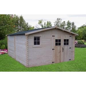 Abri de jardin en bois 28mm 20m² (Montage disponible)