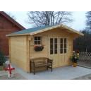 Abri de jardin en bois 42mm 12,25m² (Montage disponible)