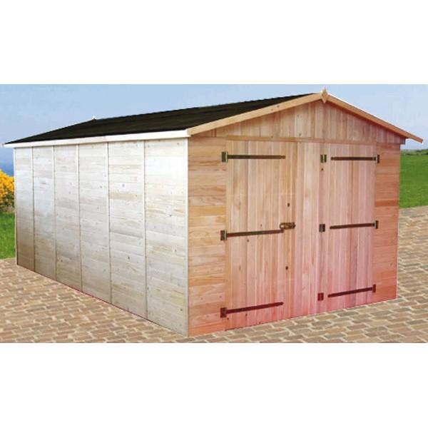 garage en bois 16mm x m livr et mont. Black Bedroom Furniture Sets. Home Design Ideas