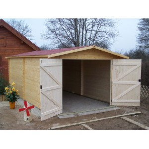 Garage en bois 28 mm 3.50 x 5.40 m (Livré et monté)
