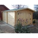 Garage en bois 42 mm 3.50 x 6.20 m (Livré et monté)