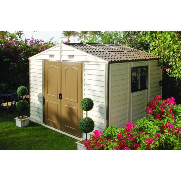 abri de jardin pvc duramax 3 2 x 2 4 m. Black Bedroom Furniture Sets. Home Design Ideas
