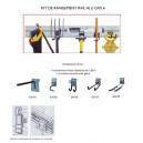 Kit rangement outils pour abri de jardin