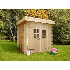 Abri de jardin bois toit plat Lanten