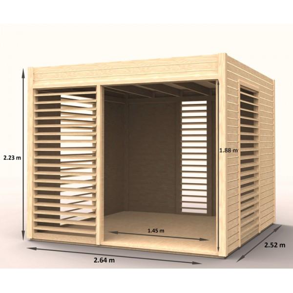Abri de jardin arty en bois m2 for Abri de jardin 5m2 bois