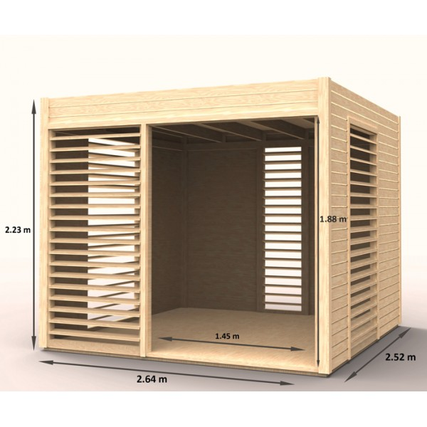 Abri de jardin arty en bois m2 - Plan abris de jardin ossature bois ...
