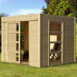Abri de jardin en bois moderne cosy m2 for Abri bois moderne