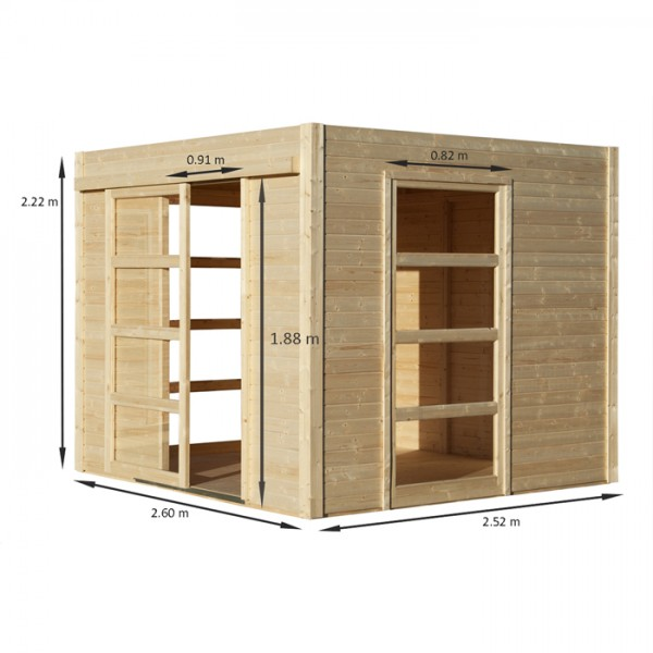 abri de jardin en bois moderne cosy m2. Black Bedroom Furniture Sets. Home Design Ideas
