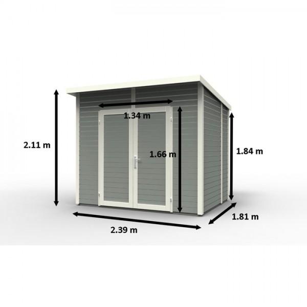 abri de jardin skur 4 design scandinave peint en bois nordique qualit premi. Black Bedroom Furniture Sets. Home Design Ideas