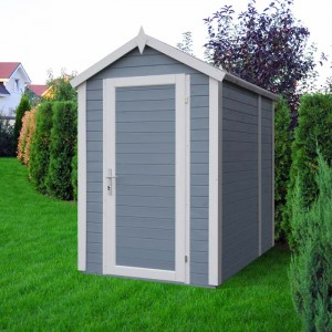 abri de jardin slot peint look nordique scandinave. Black Bedroom Furniture Sets. Home Design Ideas
