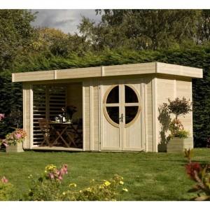 Abri de jardin Summerhouse RELAX en bois brut scandinave9.56 m2