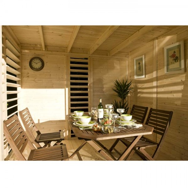 Abri de jardin RELAX Summerhouse bois brut scandinave 9.56 m2