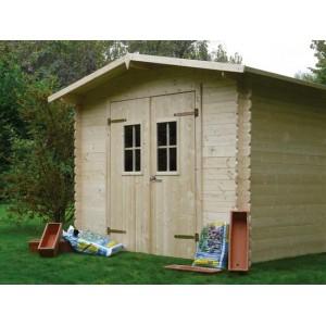 Abri jardin en bois HUSUM 3.9 m2 Ep. 19 mm