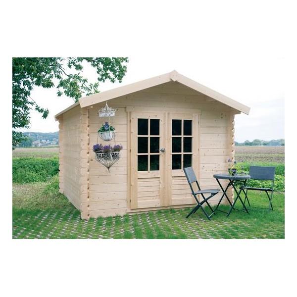 Cabane de jardin bois gera m2 19 mm for Abri de jardin 8 m2