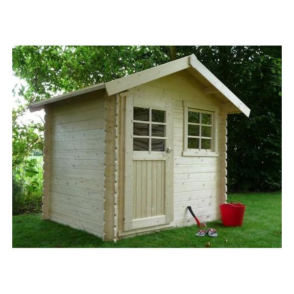 Abri de jardin en bois laval surface m2 paisseur 28 mm for Jardin 71