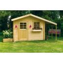 Abri jardin bois + bucher