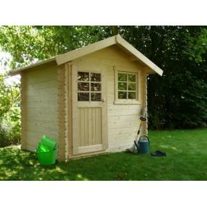 Abri de jardin en bois SARAN 5.9 m2 Ep. 28 mm