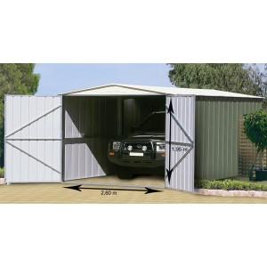 Garage métal G.H TRECO 10x19 Colorbond (3,07 x 5,88 x 2,25m)