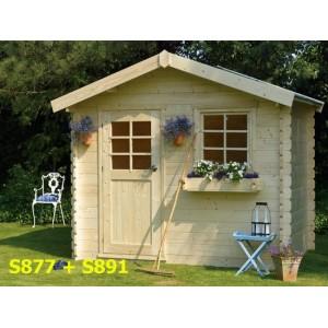 Abri de jardin bois SOLOGNE 8.9 m2 Ep. 28 mm