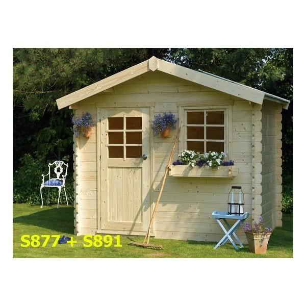 chalet de jardin en bois sologne 8 9 m2 ep 28 mm. Black Bedroom Furniture Sets. Home Design Ideas