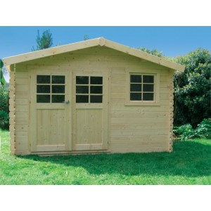 Abri de jardin en bois CHIMAY 10.6 m2 Ep. 28 mm