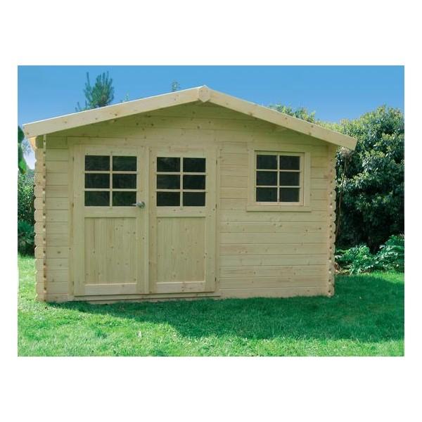 cabanon de jardin en bois chimay 10 6 m2 ep 28 mm. Black Bedroom Furniture Sets. Home Design Ideas