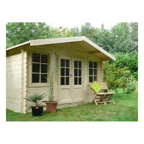 chalet de jardin en bois dole surface de 11 5 m2 epaisseur de 28 mm. Black Bedroom Furniture Sets. Home Design Ideas