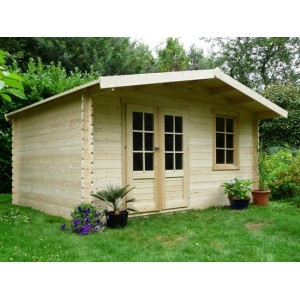 Abri de jardin en bois THUN 13.7 m2 Ep. 28 mm